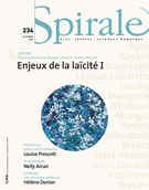 Cover of Enjeux de la laïcité I, Number 234, Fall 2010, pp. 3-86, Spirale