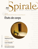 Cover of États de corps, Number 242, Fall 2012, pp. 3-91, Spirale
