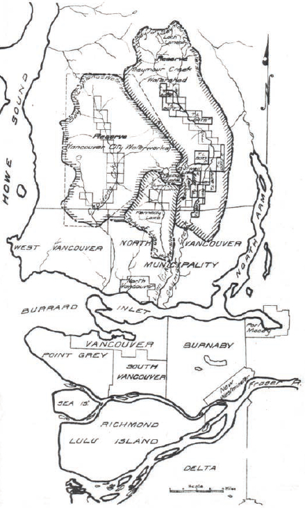 An eden that is practically uninhabited by hum urban history capilano and seymour watersheds relative to municipalities in the lower mainland malvernweather Choice Image