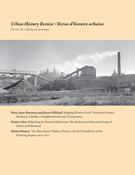 Cover of Volume 45, Number 2, Spring 2017, pp. 5-64, Urban History Review