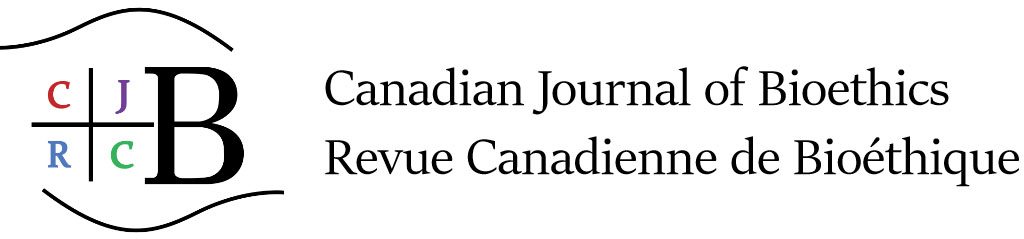 Logo pour Canadian journal of bioethics