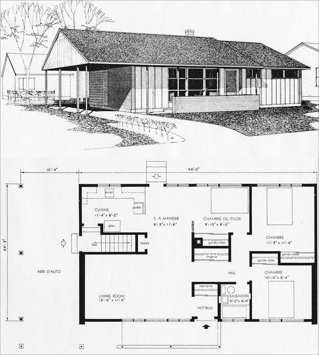 Le bungalow qu b cois monument vernaculaire la cahiers de g ographie du qu bec rudit - Plan de maison quebec ...