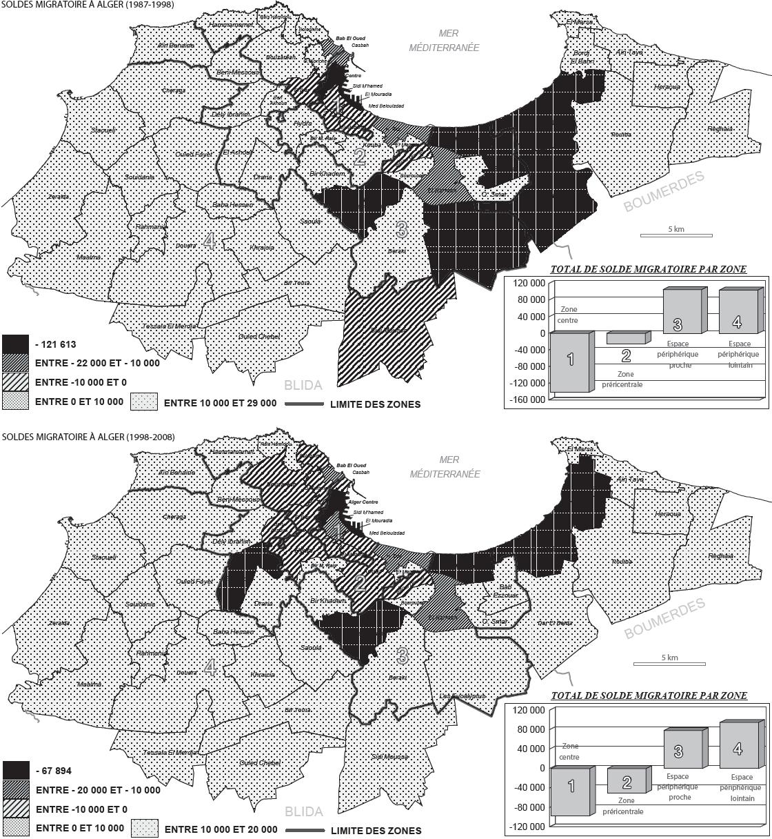 Carte De Lvolution Du Solde Migratoire Entre 1987 Et 2008