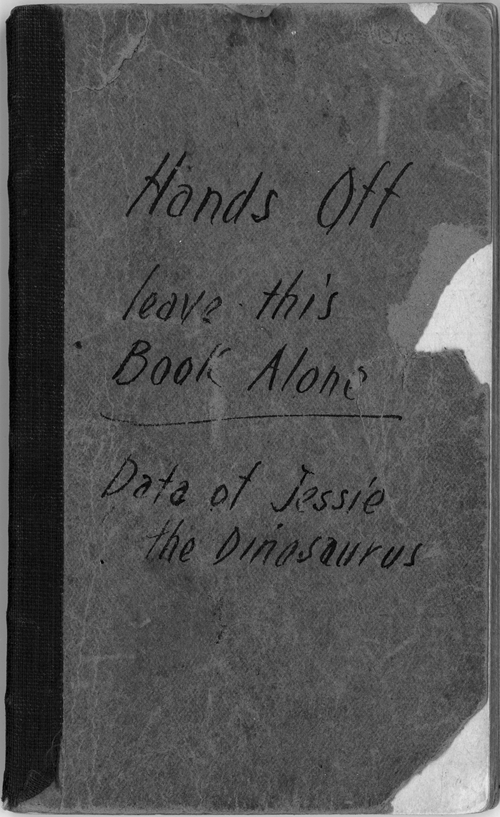 Winsor McCay, carnet de notes « Data of Jessie the Dinosaurus », 1914