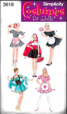 Short aprons are currently featured in adult Halloween costumes such as the French Maid and the Naughty Nurse. Crotch-length aprons are invariably paired with short skirts and form fitting tops. These aprons appear to be targeted toward the male spectator, or perhaps the male partner.28