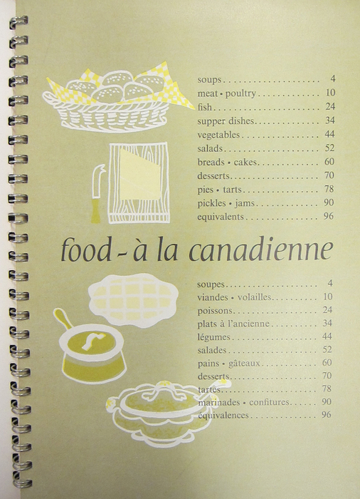 Food– à la canadienne ― p.2. Una Abrahamson Cookery Collection, Archives and Special Collections, University of Guelph.