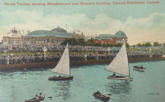 Postcard of the Women's Building, with Balcony Restaurant visible on far right, no date, author's collection.
