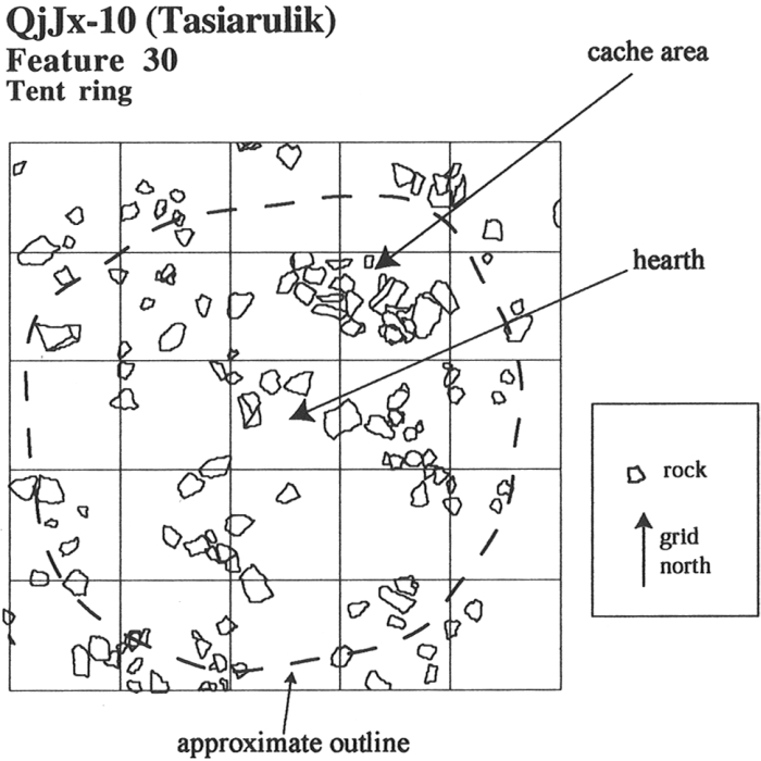 Plan of Feature 30 at Tasiarulik