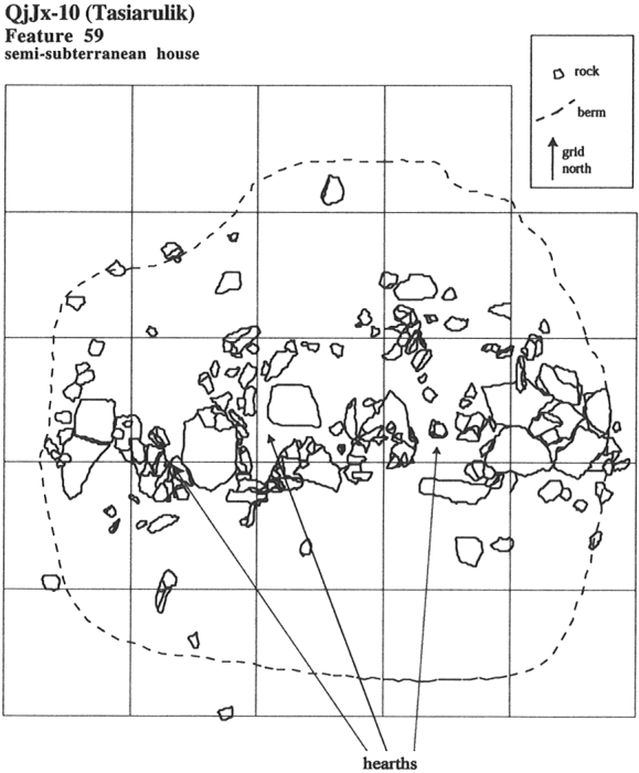 Plan of Feature 59 at Tasiarulik