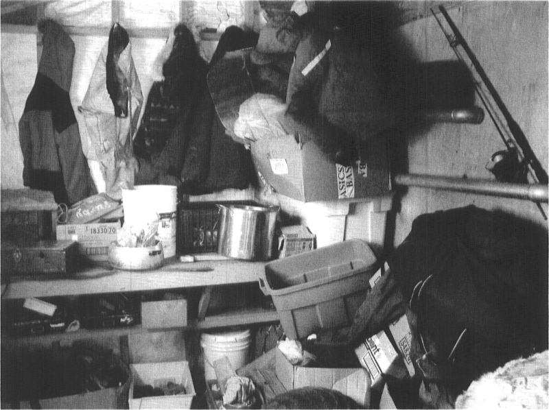 Storage in an Inuit home, Arviat, 2002.