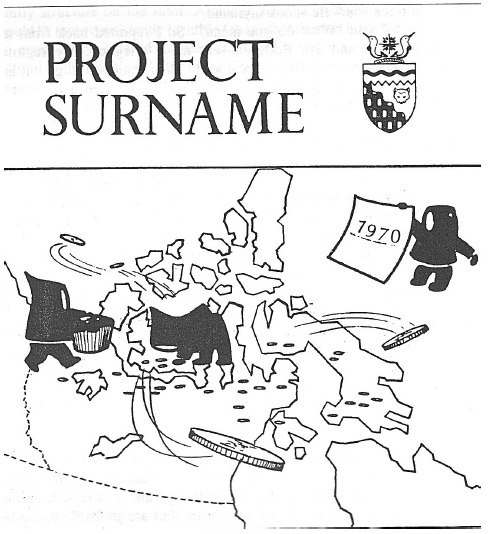 Cover of the booklet issued for Project Surname, where disks are being tossed out of the Arctic (source: Okpik 1970).