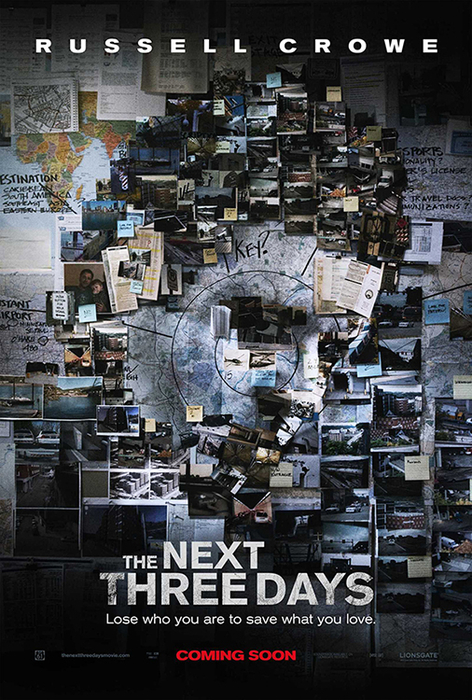 Affiche promotionnelle du film The Next Three Days (Paul Haggis, 2014).