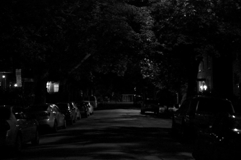 A residential street in the Plateau district, Montreal, July 24, 2013.