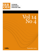 Couverture de        Volume 14, numéro 4, septembre 2013, p. 1-284 International Review of Research in Open and Distributed Learning