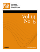 Couverture de        Volume 14, numéro 5, décembre 2013, p. 1-299 International Review of Research in Open and Distributed Learning