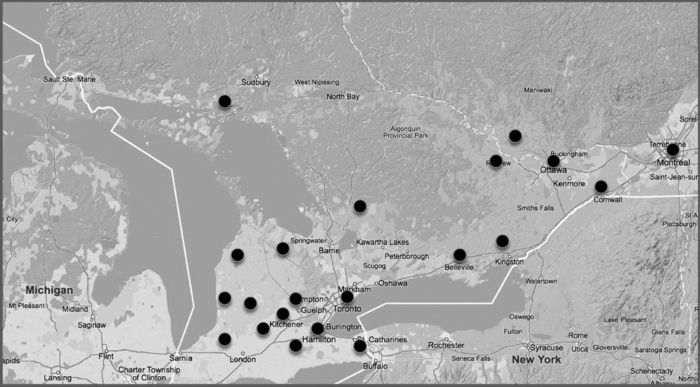 Spatial Dimensions of the Canada Synod in 1900