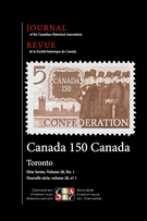 Couverture de Volume 28, numéro 1, 2017, p. 1-316, Journal of the Canadian Historical Association