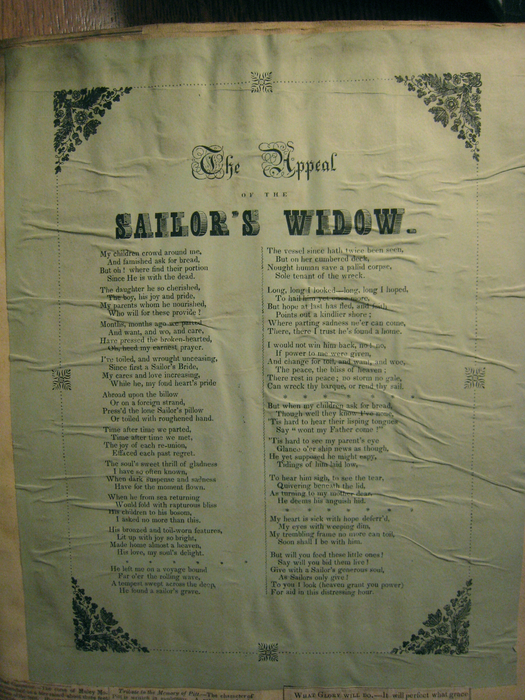 """The Appeal of the Sailor's Widow,"" Loveland Scrapbook"