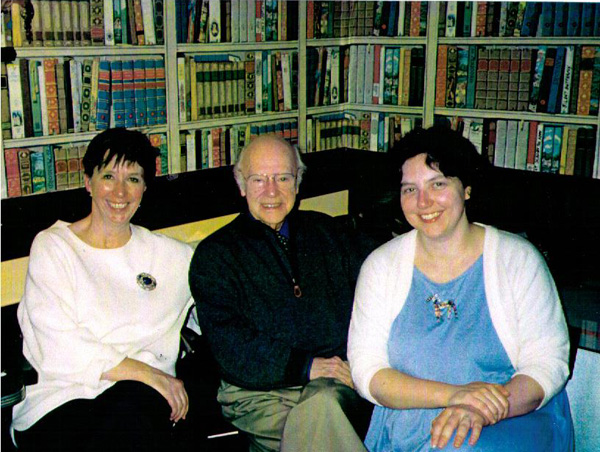 The United Church Publishing House c. 1996. Left to right: Catherine Wilson, Peter Gordon White, Ruth Bradley-St-Cyr.