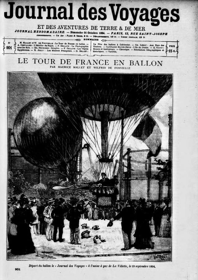 REPRODUCTION AFFICHE BALLON CAPTIF MAURICE MALLET AERONAUTIQUE AVIATION Verzamelingen