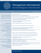 Couverture de Internationalisation ouverte, Volume 22, numéro hors-série, 2018, p. 11-159, Management international