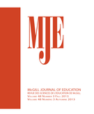 Couverture de Worker Education / Labour Learning: Tensions and lessons, Volume 48, numéro 3, fall 2013, p. 461-621, McGill Journal of Education