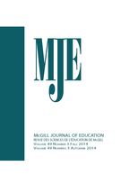 Couverture de Volume 49, numéro 3, fall 2014, p. 525-729, McGill Journal of Education
