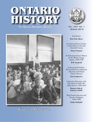 Couverture de Women and Education, Volume 107, numéro 1, spring 2015, p. 1-151, Ontario History