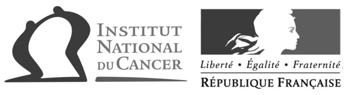 Logotypes de l'Institut national du cancer et de la République française