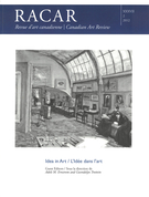 Couverture de Idea in Art,        Volume 37, numéro 2, 2012, p. 1-92 RACAR : Revue d'art canadienne