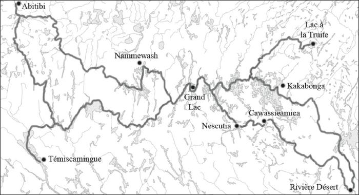 Carte Indienne Maniwaki.Un Trace D Une Grande Valeur La Carte Indie