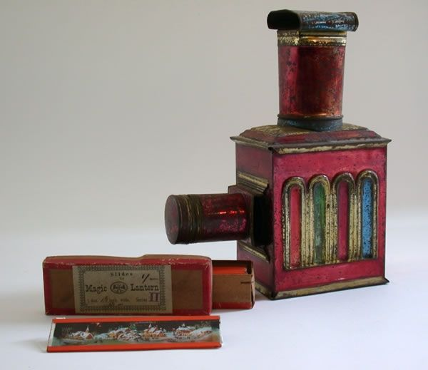 Enamelled toy magic lantern. Courtesy of University of Exeter Academic Services (Bill Douglas Centre)