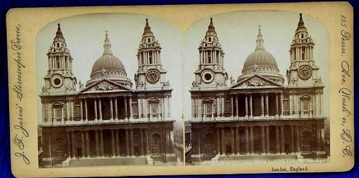 1860s stereoscope slide from Dakins, London, exported to the US.
