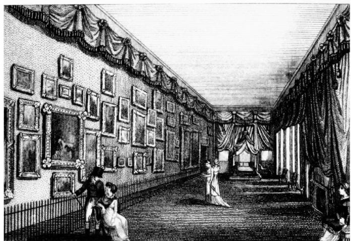 Mrs. Linwood's Embroidery Exhibition at Saville House, c.1820.