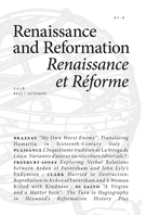 Couverture de Volume 41, numéro 4, fall 2018, p. 7-286, Renaissance and Reformation