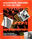 Couverture de Mouvements alternatifs et crise de l'État, Numéro 10 (50), automne 1983, p. 3-182, International Review of Community Development