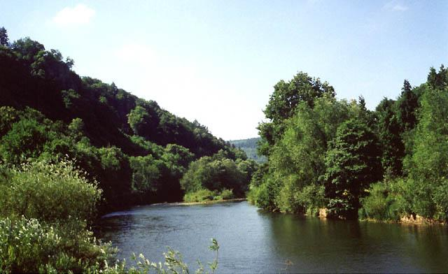 The River Wye at Symonds Yat, facing south