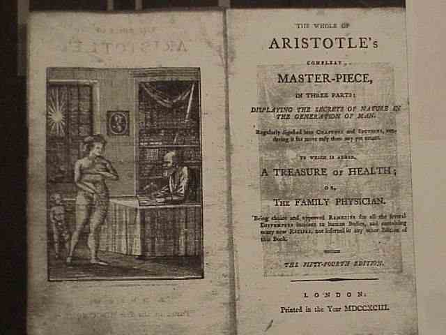 Frontispiece to Aristotle's Masterpiece