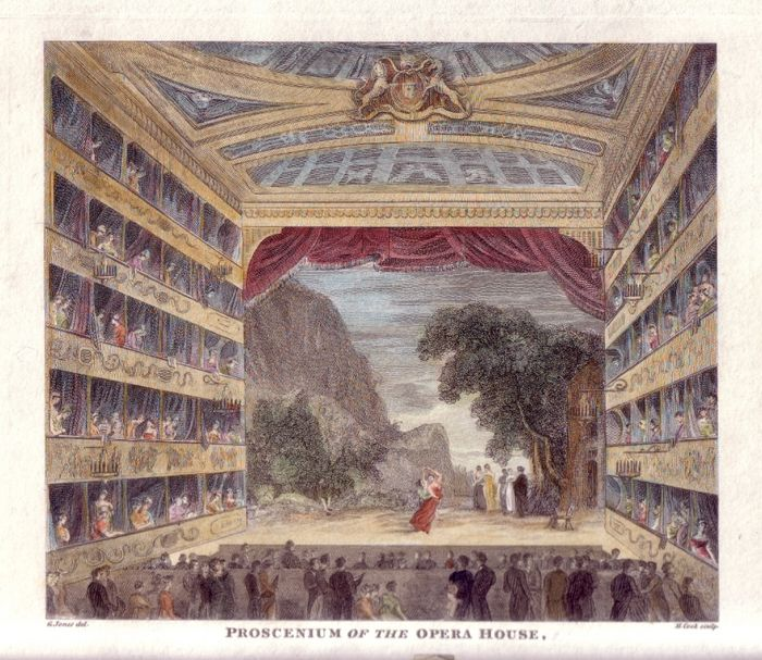 The King's Theatre, interior, c. 1816. Collection of the author.