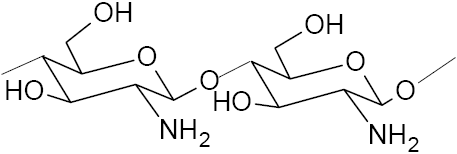 The chemical structure of chitosan.