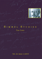 Couverture de Simmel as Educator, Volume 23, numéro 1, 2019, p. 9-201, Simmel Studies